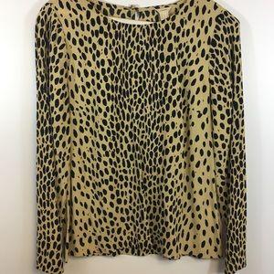 J. Crew Leopard Print Blouse Size 2